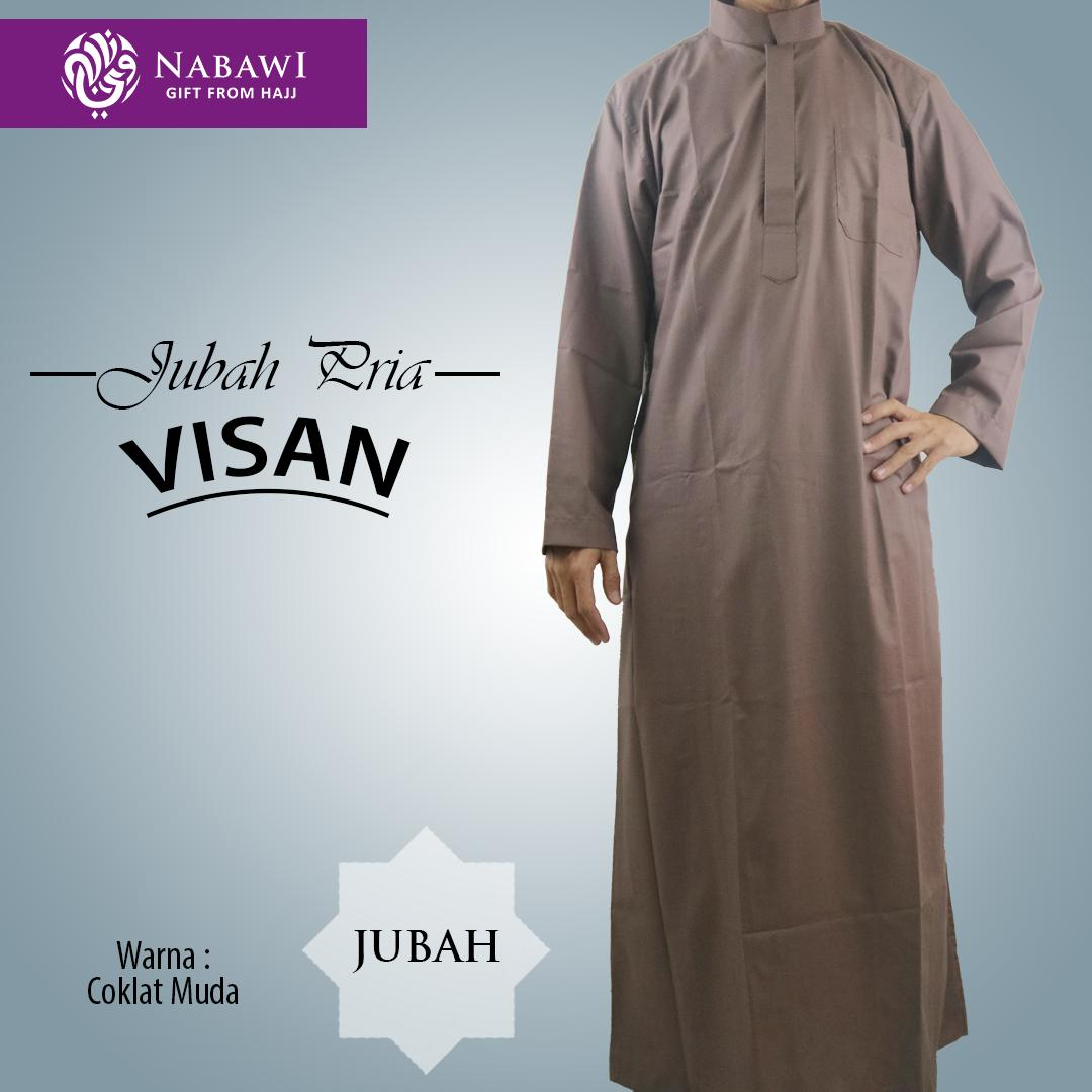 Gamis Jubah Visan Polos Warna Busana Muslim Perlengkapan Haji dan Umroh