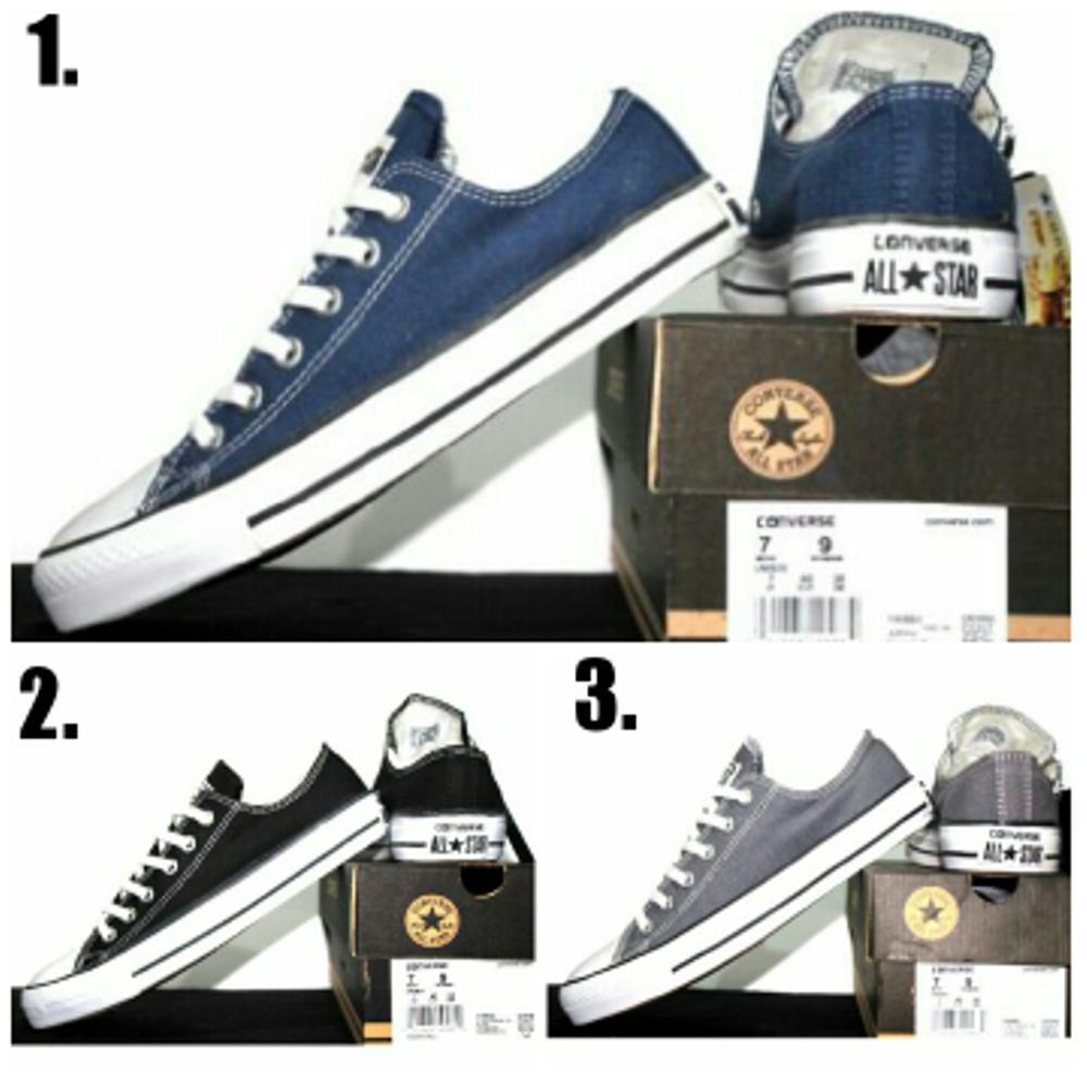 Promo Sepatu casual unisex Converse all star grade orie (warna navy blue, black & grey) Fashion