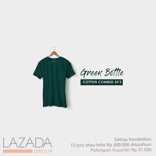 Kaos Polos Green Bottle Fashion-able Label [PREMIUM QUALITY]