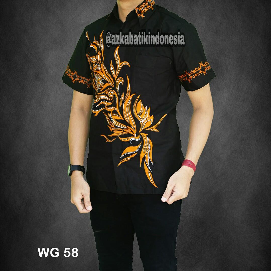 Baju Batik Kantor Baju Batik Pria Baju Batik Pekalongan Motif Khatulistiwa Kuning