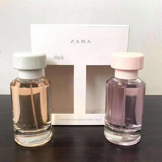 Original Parfum Zara Black And Rose Gift Set Isi 2Pcs Murah