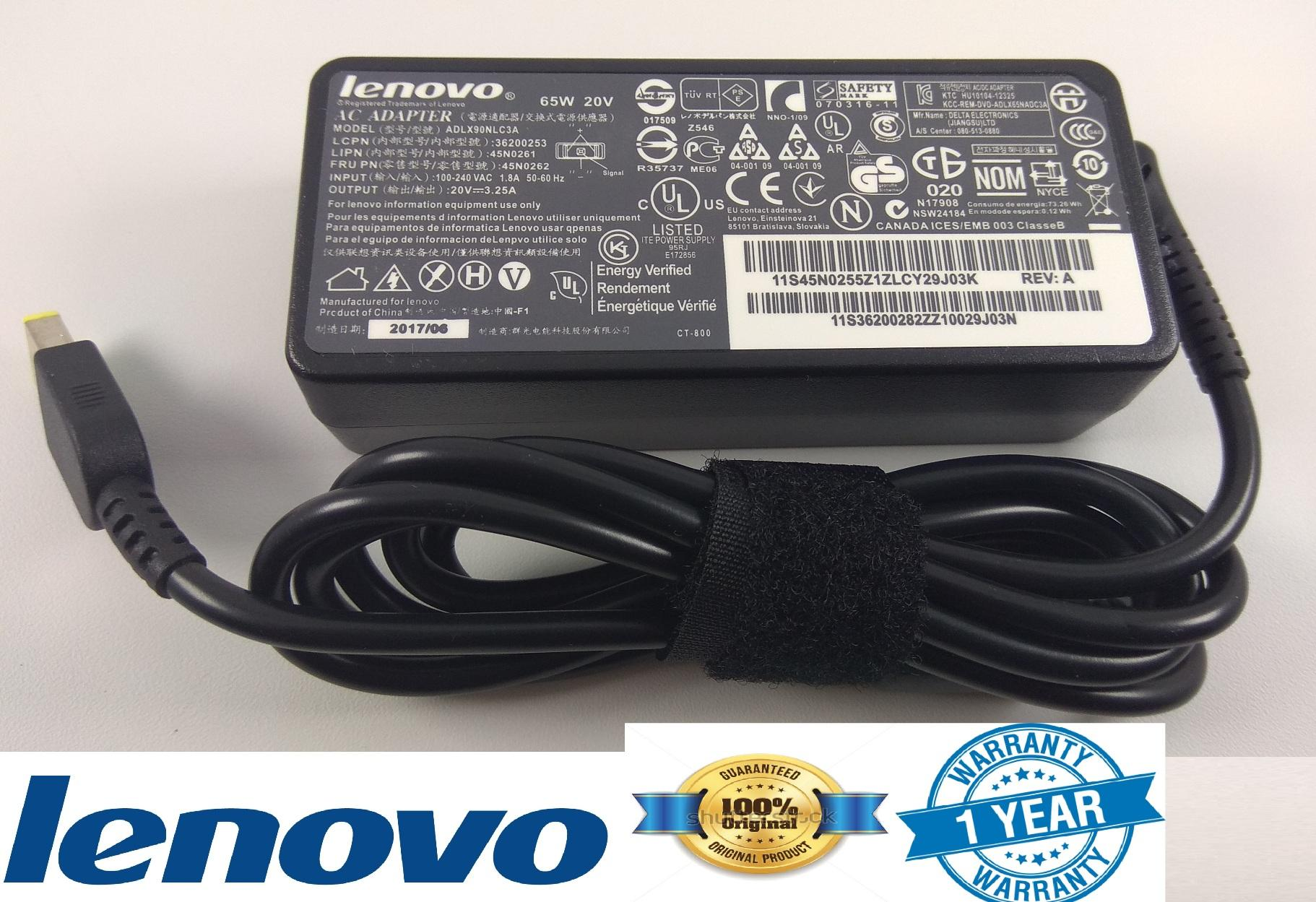 Lenovo Adaptor Charger ThinkPad E440 E540 L440 L540 S431 T540p G400 20v 3.25a (usb) SPECIAL