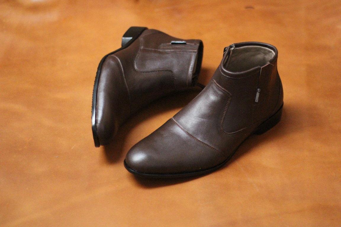 Kelebihan Sepatu Pria Original Pantofel Kulit Asli Cevany Fox Pantopel Badami Formal Casual Resleting
