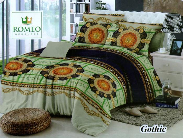 Bedcover Romeo ukuran 180 x 200 / King / No.1 - Gothic