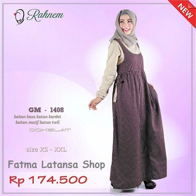 baju muslim couple / rahnem 1408 / sarimbit / koko kaos / gamis terbaru / gamis murah berkualitas anak size S/M