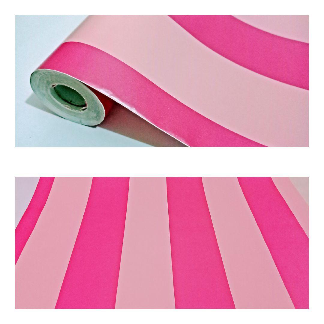 Wallpaper dinding murah ruang tamu rumah kamar tidur garis pink cream terbagus terlaris termurah elegan minimalis cantik indah