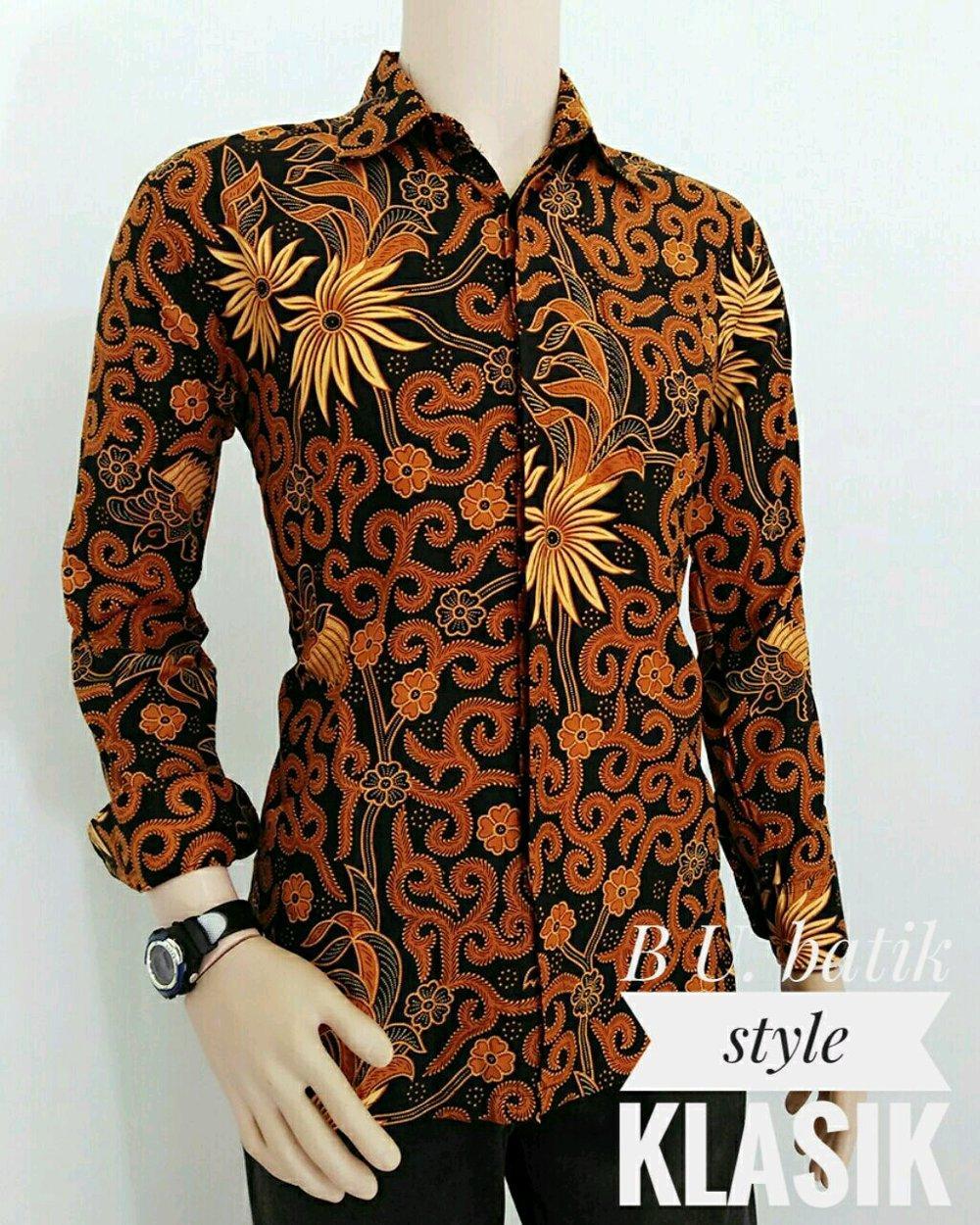 baju batik lengan panjang busana pria 6kl di lapak pradia batik pekalongan nanacantik308