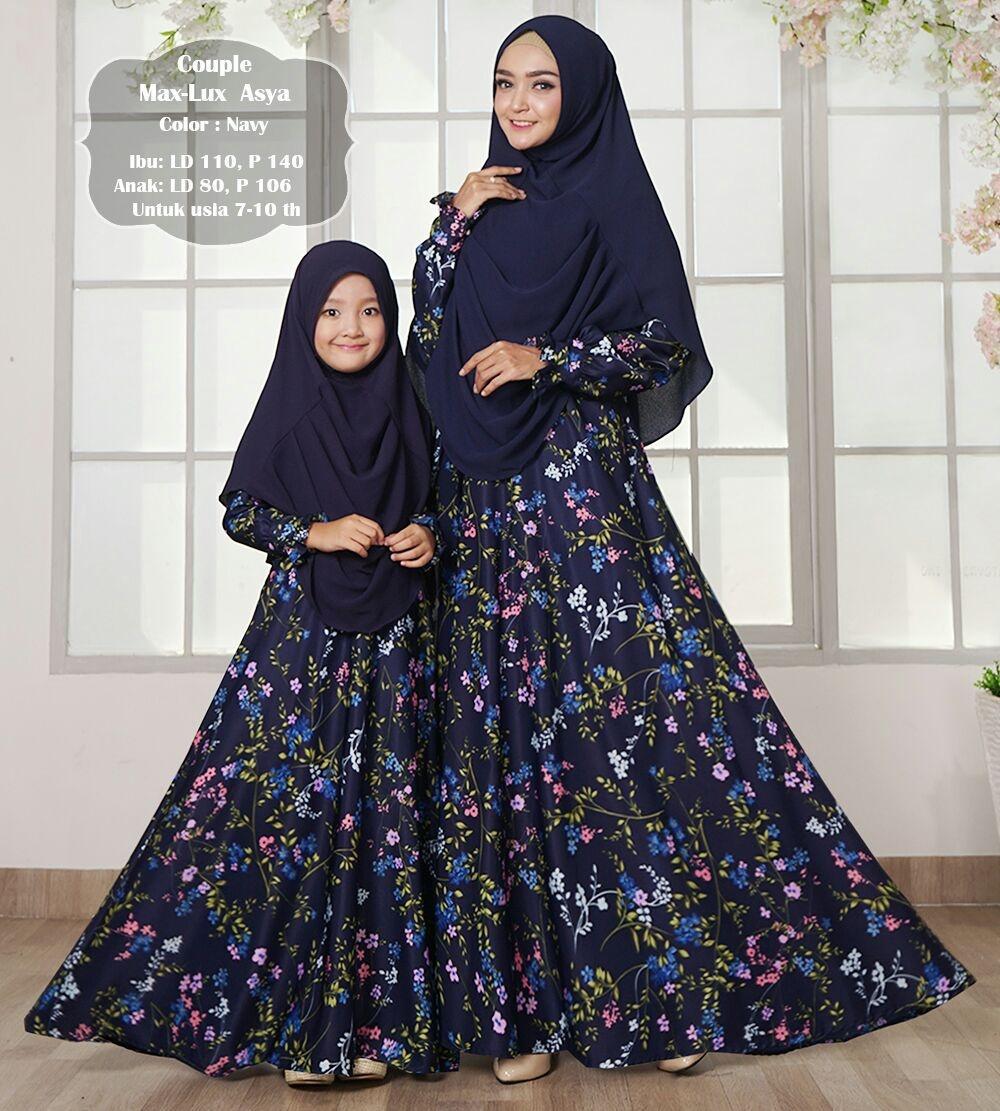 Gamis muslim syar'i maxmara lux asya ibu dan anak couple