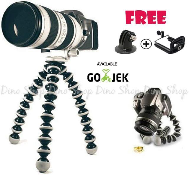 Gorillapod / Flexible Tripod Ukuran LARGE For VLOG Action Cam & DSLR