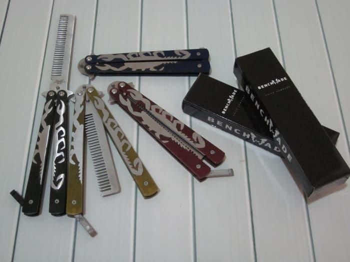 BEST SELLER!!! BALISONG BENCHMADE BUTTERFLY COMB SCORPION / SISIR POMADE 4 WARNA - Hf64mv