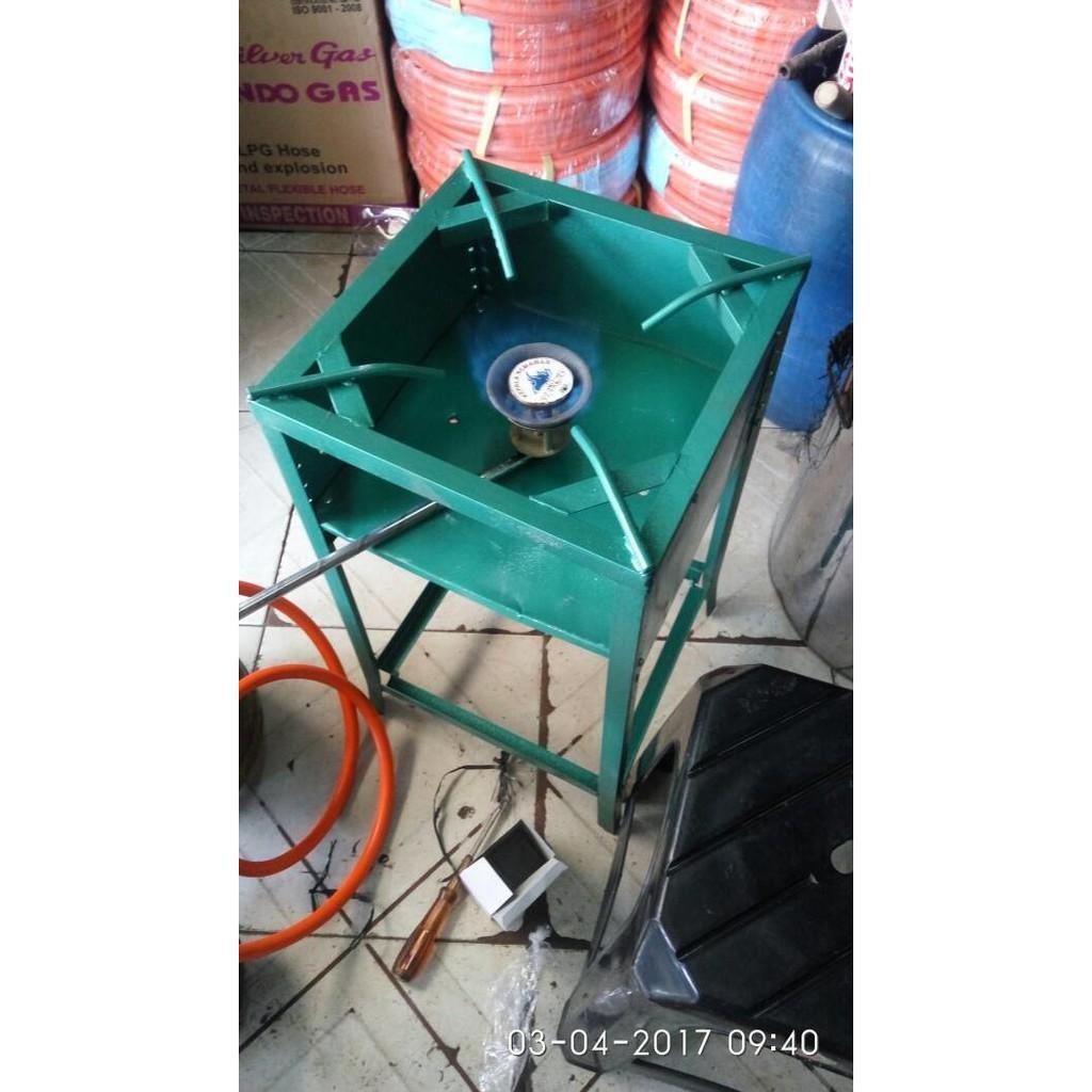 1Set Kompor Gas Semawar 203+Selang Regulator + Rangka 60X34cm - Peqgip