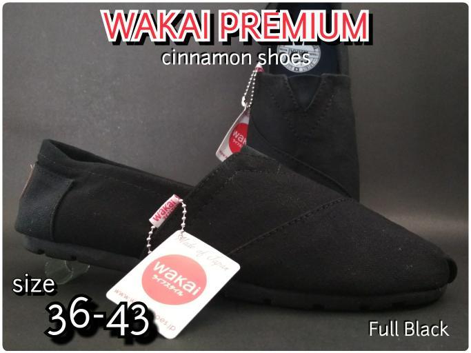 Sepatu Wakai Grad Original Pria Wanita Hitam + Hadiah Lebaran