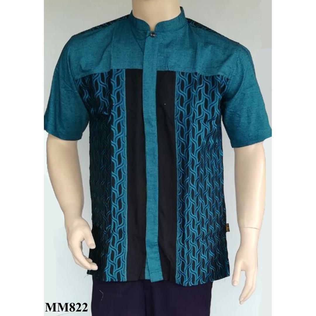 Baju Koko Muslim Madani Bordir Pendek MM822