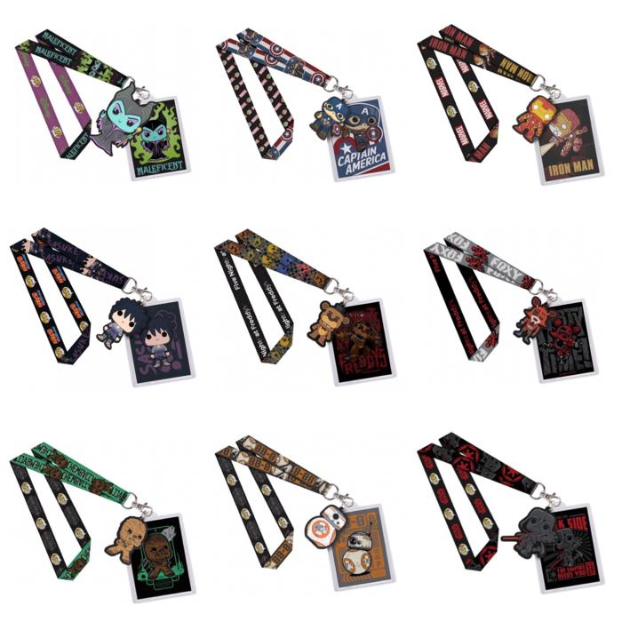 BEST SELLER!!! Funko POP! Lanyard (Disney, Marvel, Star Wars, Naruto, Sasuke, Freddy) - lg318F