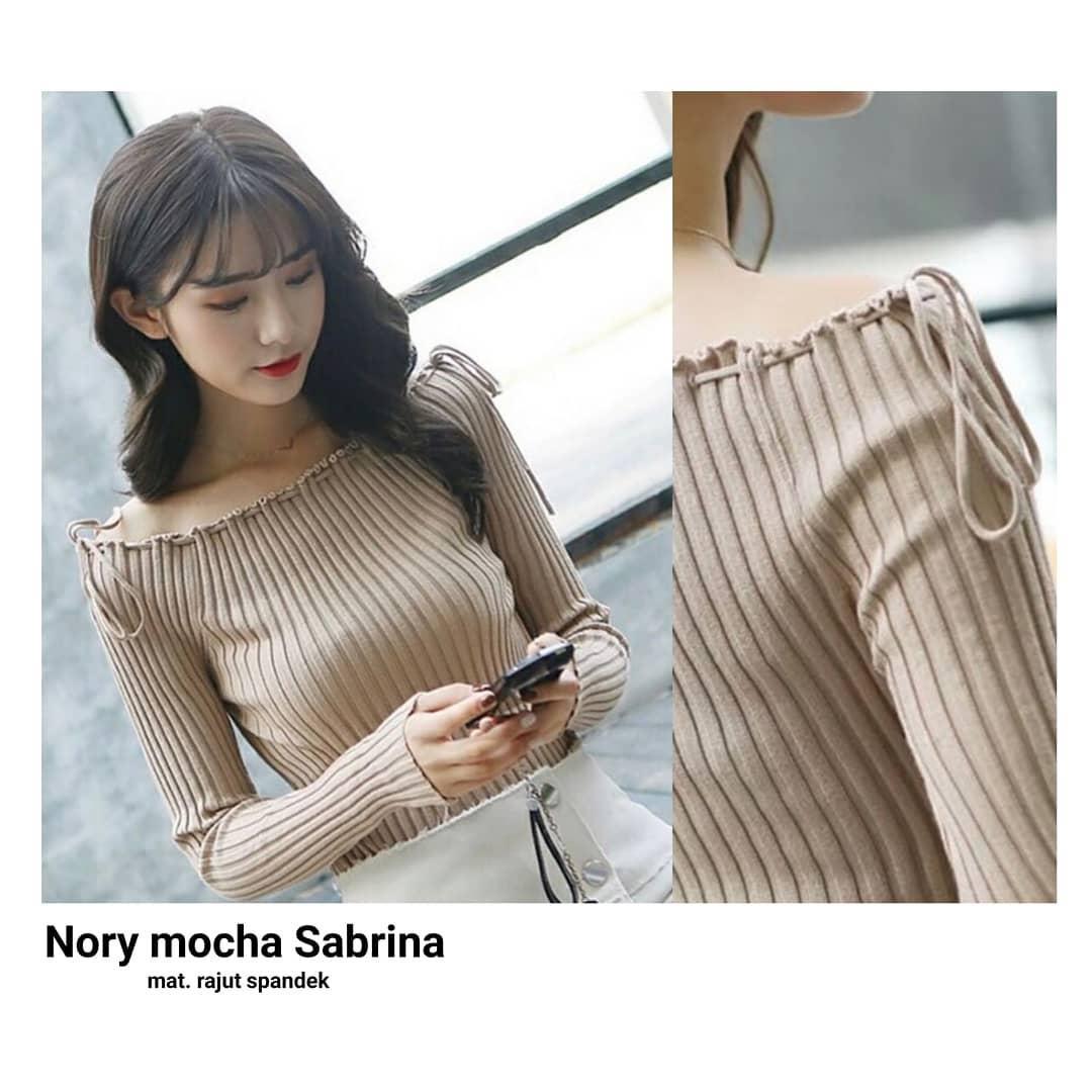 Sweater Nory Mocca Sabrina Outer Rajut Spandek Baju Wanita Muslim Pakaian Hangat Wanita Atasan Simple Baju Wanita Hijab Casual Modern Trendy Baju Model Terbaru 2018