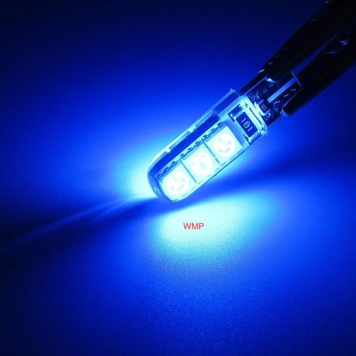 Detail Gambar Lampu Sen Sein T10 Jelly SMD 5050 Mode Diam Warna Biru WMP-0303D Terbaru