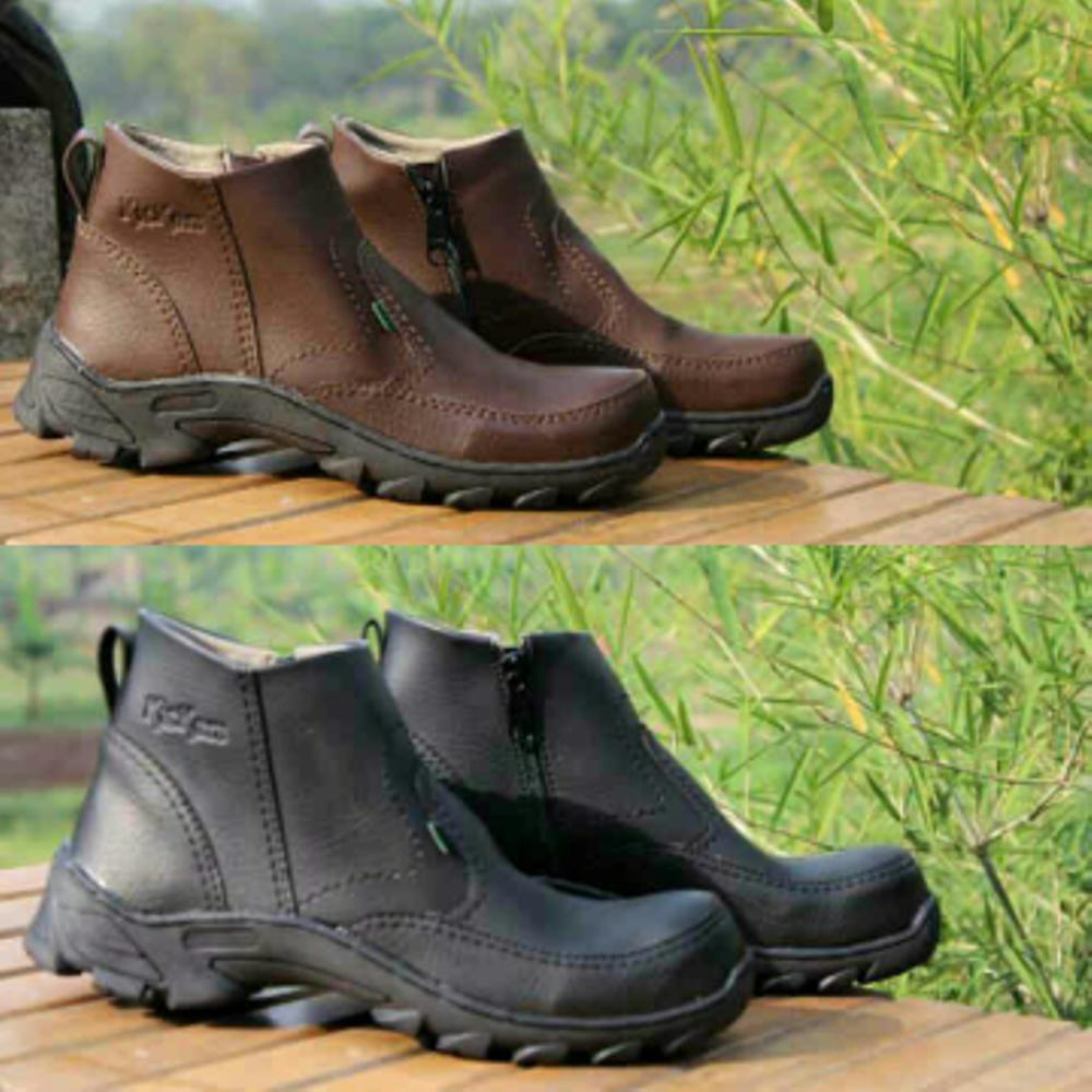 Promo kickers boots safety sleting zipper ujung besi tracking | competitor caterpillar. . Diskon