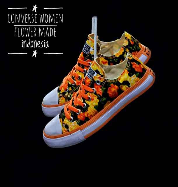Promo Sepatu Murah Converse Flower Original Indo Sepatu Wanita Diskon