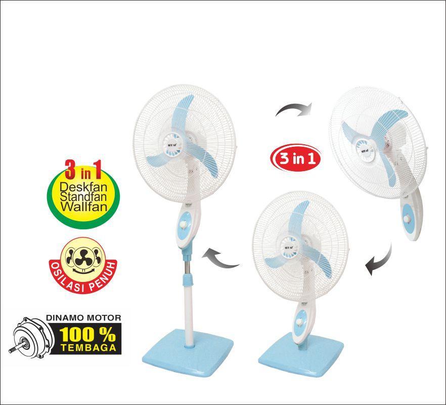 Sekai Stand Fan 18 Inch SFN 1831 3 in 1 Sweet BlueSekai Stand Fan 18 Inch SFN 1831 3 in 1 Sweet Blue