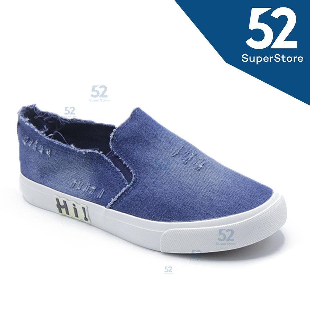 Faster Sepatu Sneakers Kanvas Wanita/Pria 1609-800 (Light/Dark Blue) Size 35/45