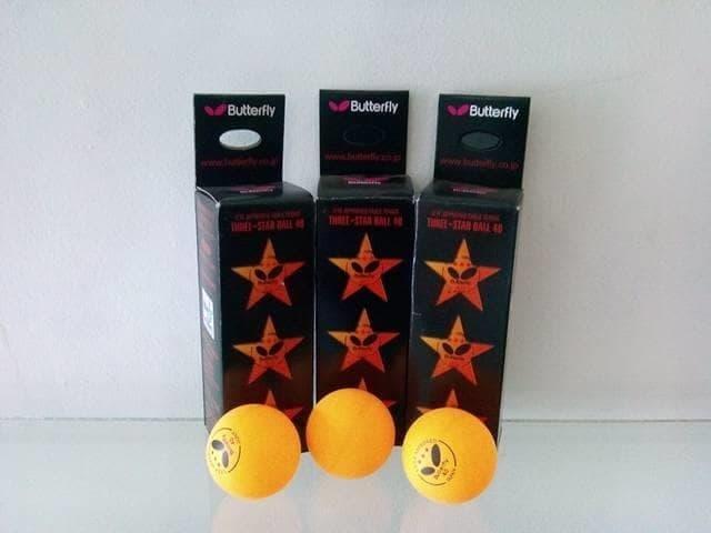 Butterfly Orens Three Star Ping Pong 40mm Bola Pingpong Tenis Meja By Sportsite.