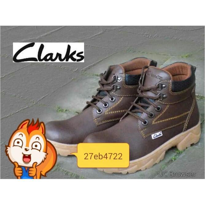 Promo Sepatu Clarks Boot Ujung Besi .Safety Gratis Ongkir