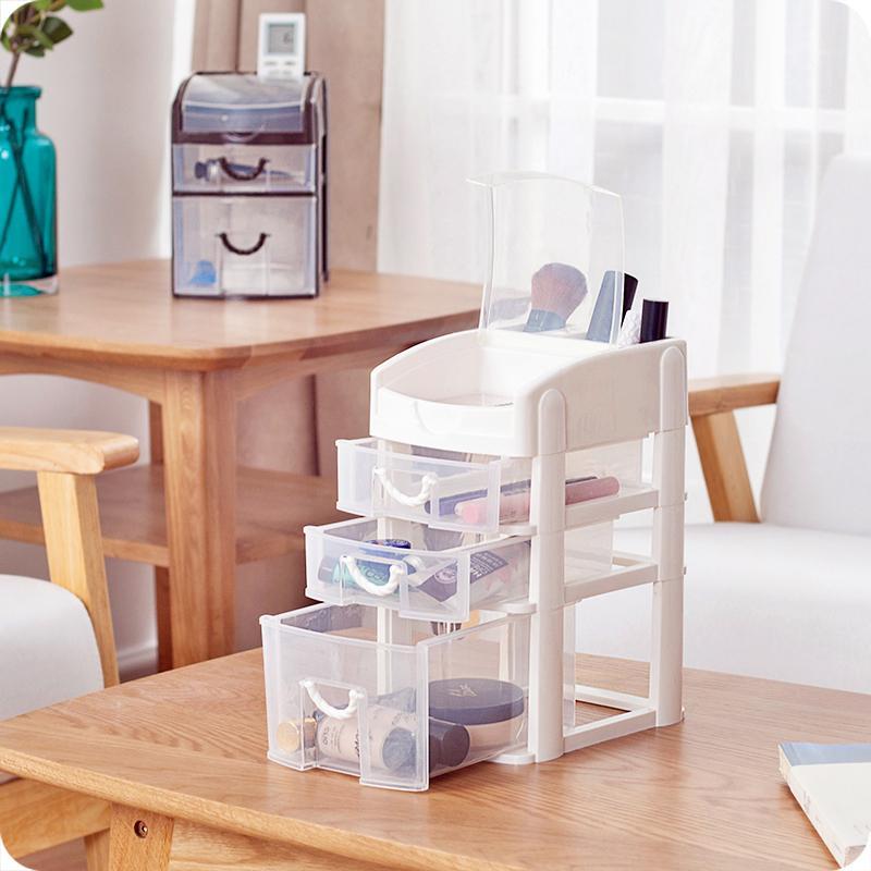 ... Plastik Transparan Tipe Laci Meja Kotak Kosmetik-Internasional - 5