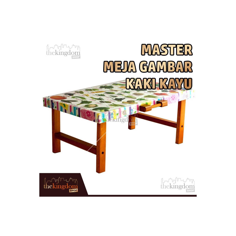 Master Meja Gambar Kaki Kayu Meja Belajar Meja Laptop Meja Mini