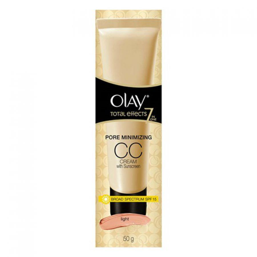 Olay Total Effects 7 in One Pore Minimizing CC Cream SPF15 Light 8gr Facial Care Perawatan Wajah Alami - Best Seller