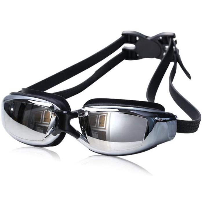 Kacamata Renang Minus 3.0 Anti Fog UV Protection G7800M - Black  - MD5bBi