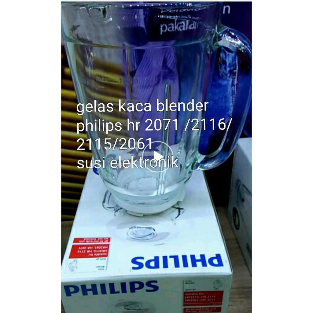 GELAS KACA BLENDER PHILIPS ORIGINAL HR 2116 / 2071 / 2115 / 2061 - DPRQ1565