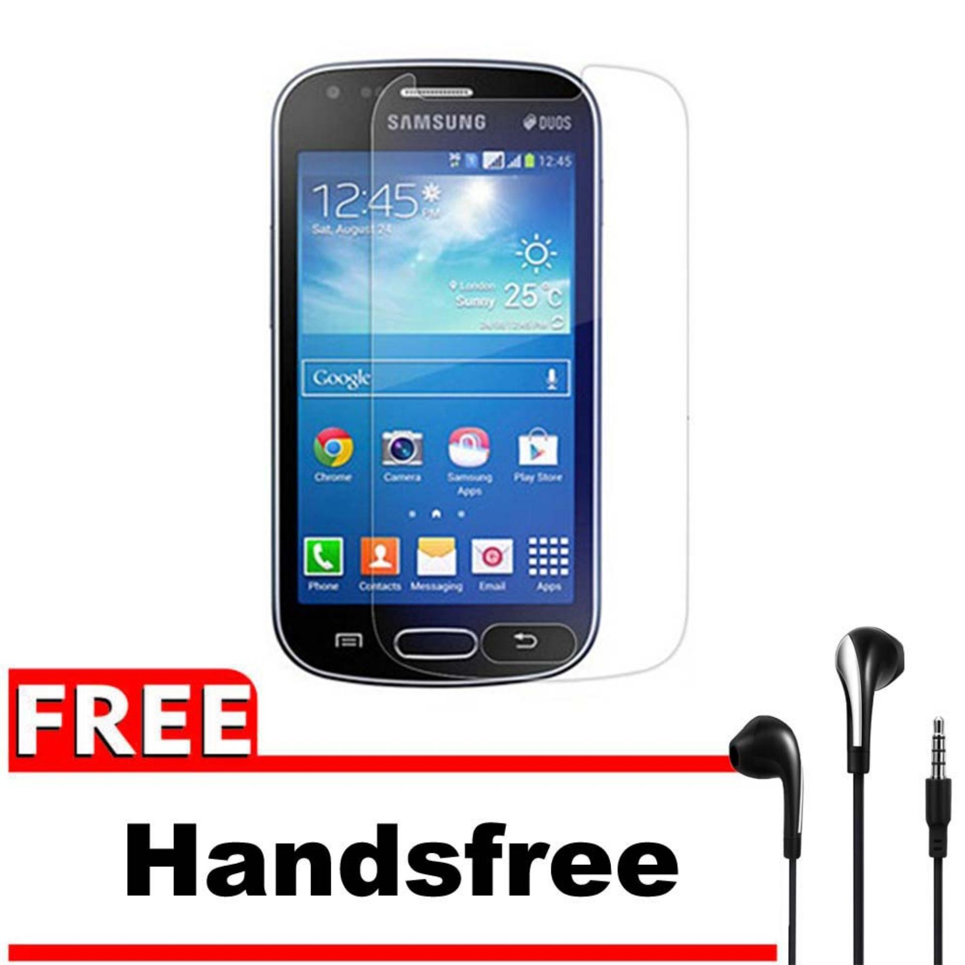 Vn Samsung Galaxy Ace 3 / Neo / Lite / S7270 / S7275 / S7272 / 4G LTE / Duos Tempered Glass 9H Screen Protector 0.32mm + Gratis Free Handsfree Earphone ...