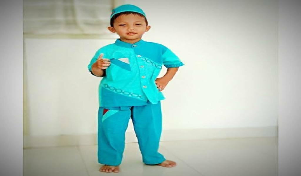 CBL-003 A Usia 2 3 4 5 6 Tahun Setelan Koko Takwa Polos Pendek Anak