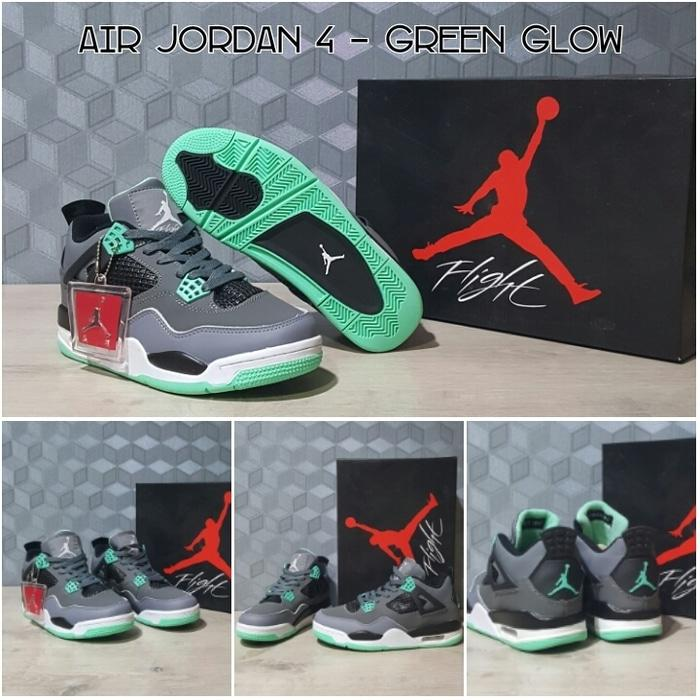Sepatu Basket Air Jordan 4 (IV) Greeen Glow /Curry/UA/Nike/Kobe