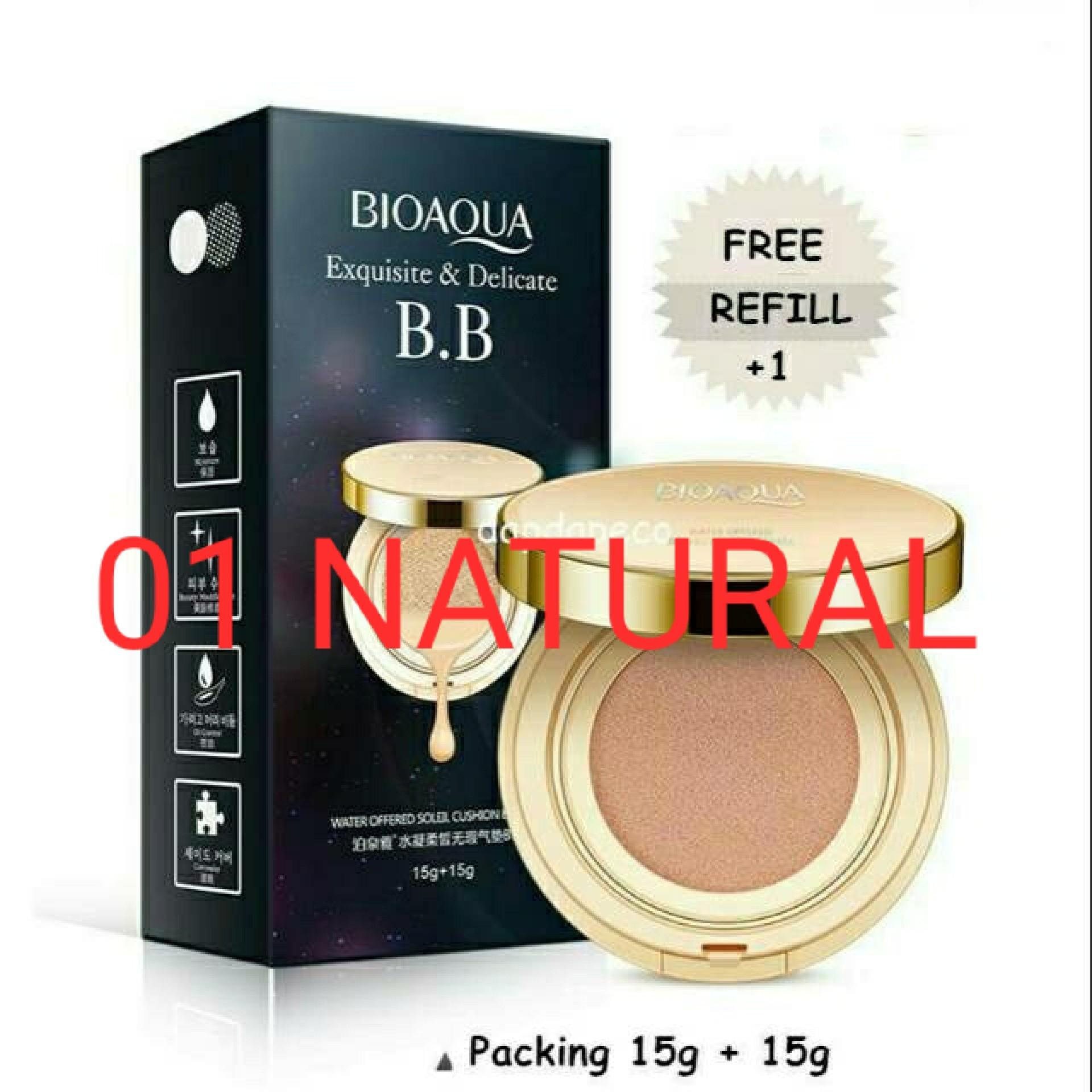 BIOAQUA EXQUISITE DELICATED + REFILL BB CUSHION ORIGINAL 100%