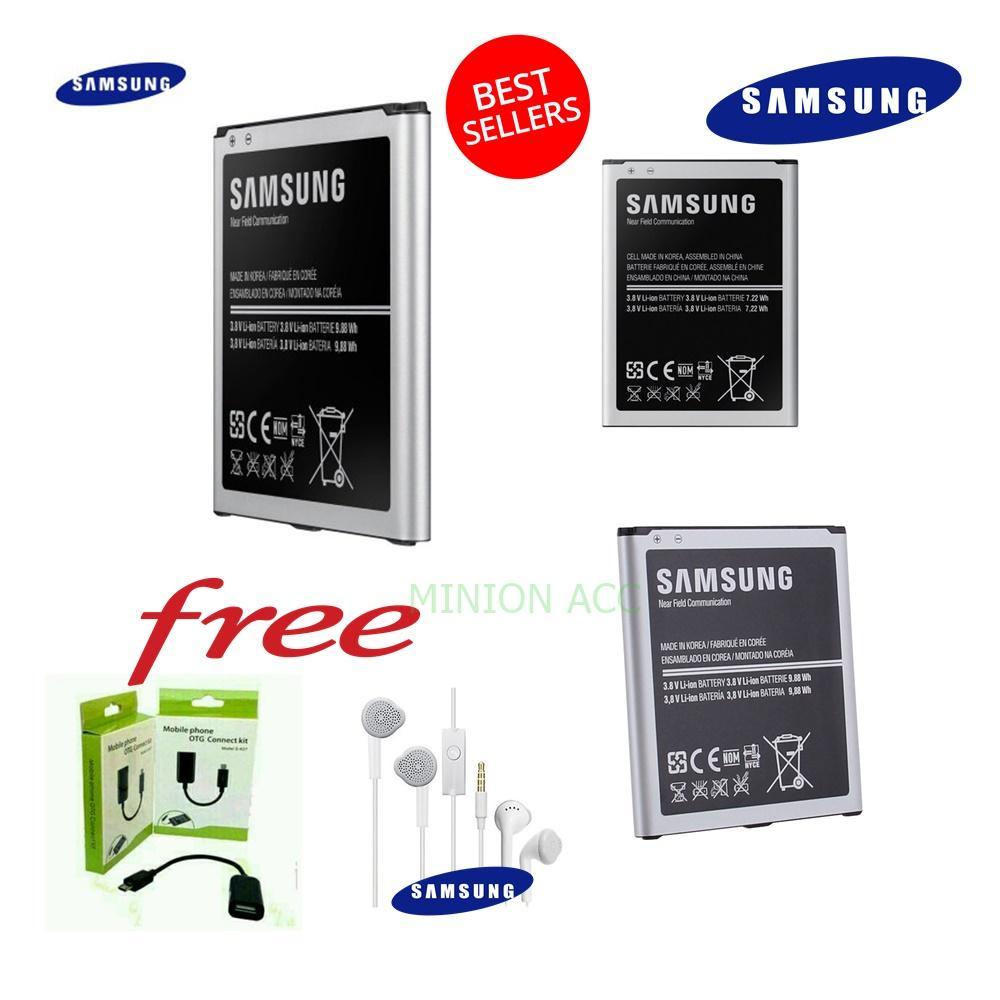 Samsung Baterai / Battery Original Galaxy S4 / I9500 Kapasitas 2600mAh Free Kabel Data OTG +