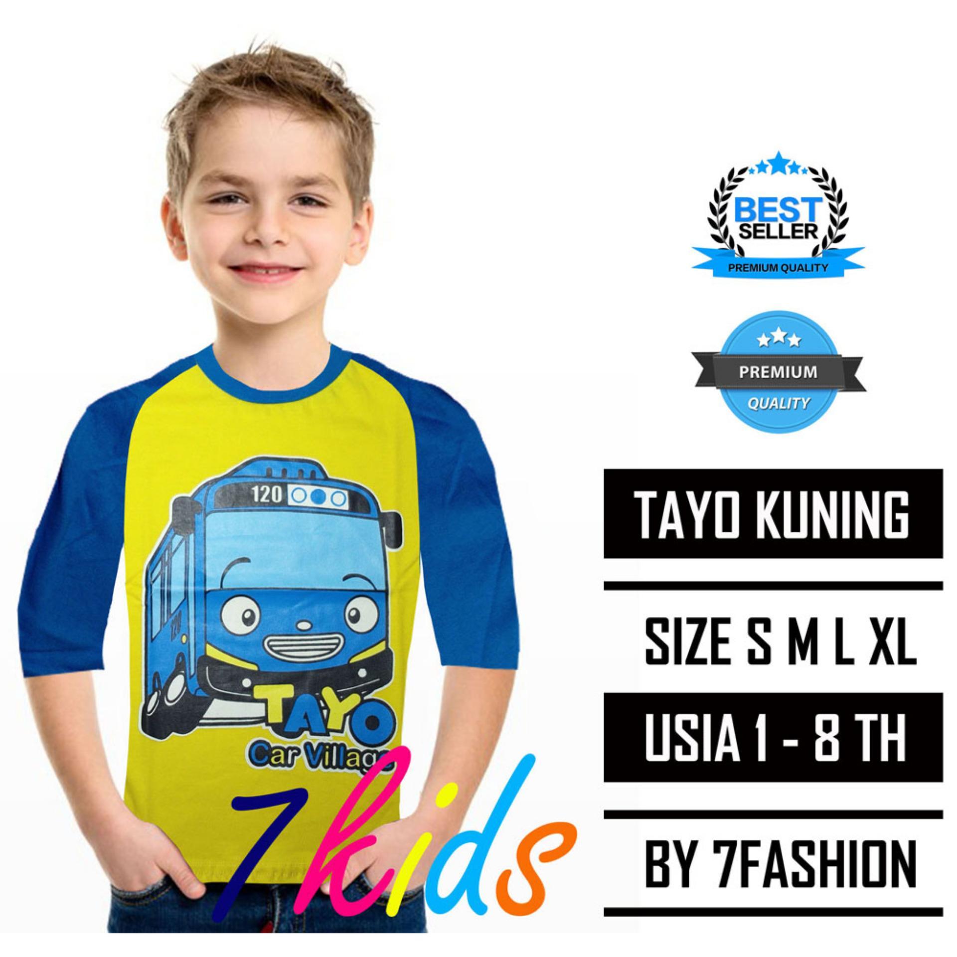 List Harga Baju Couple Lengan Panjang Warna Kuning Juli 2018 Stelan Kaos Anak Tayo 7kids Stabilo Size S Xxl