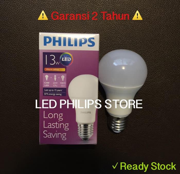 Terbaru!! Lampu Bohlam Led Philips 13 Watt Kuningwarm White (13W 13 W 13Watt - ready stock