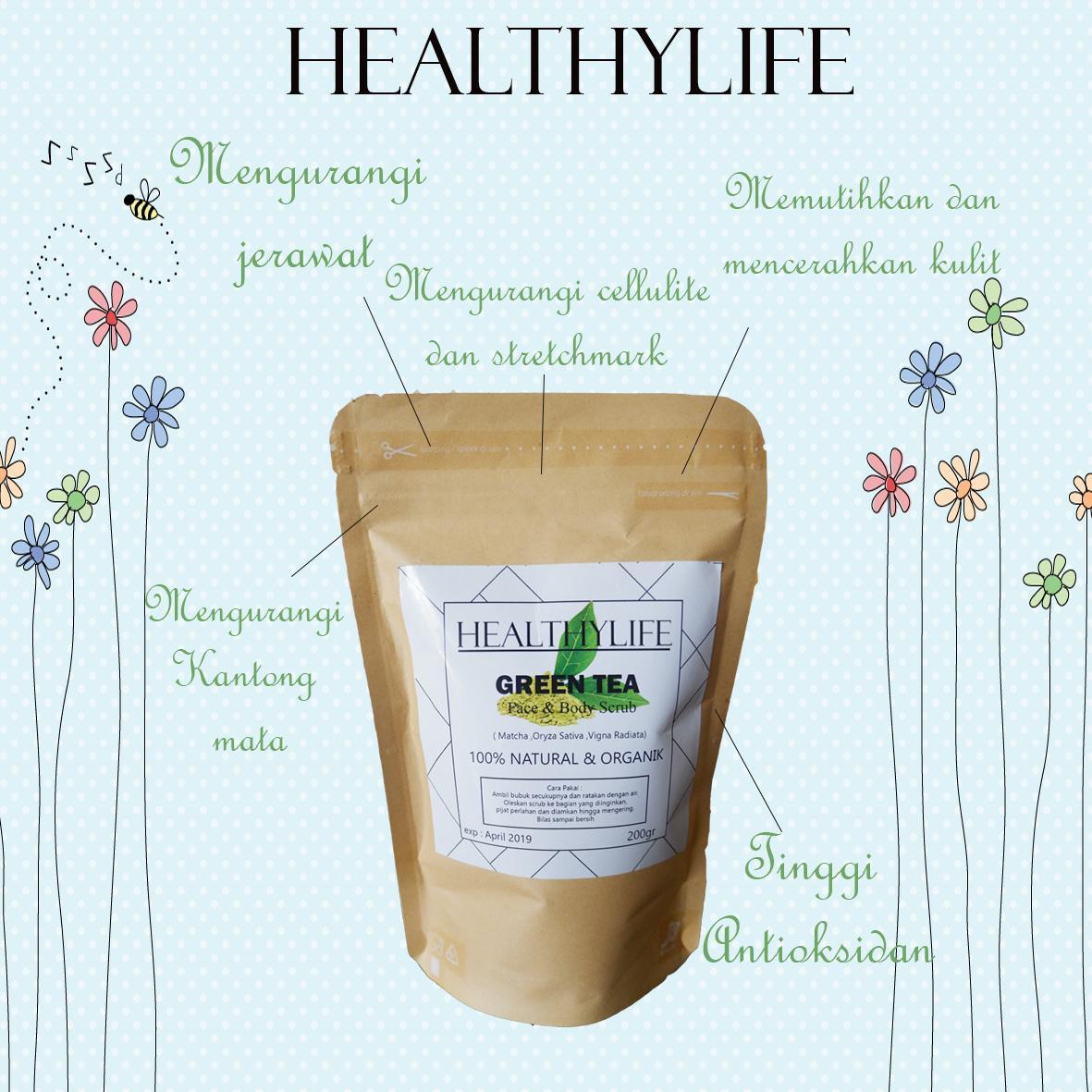 Good Lulur White Green Tea 200gr Mandi Daun Hijau Daftar Vivelle 250ml Healthylife Scrub Teh Natural Dan Alami