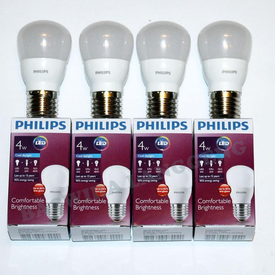 PHILIPS Lampu Led Bulb 4 Watt 4 W 4Wat 4W Putih Paket 4 Pcs - 2