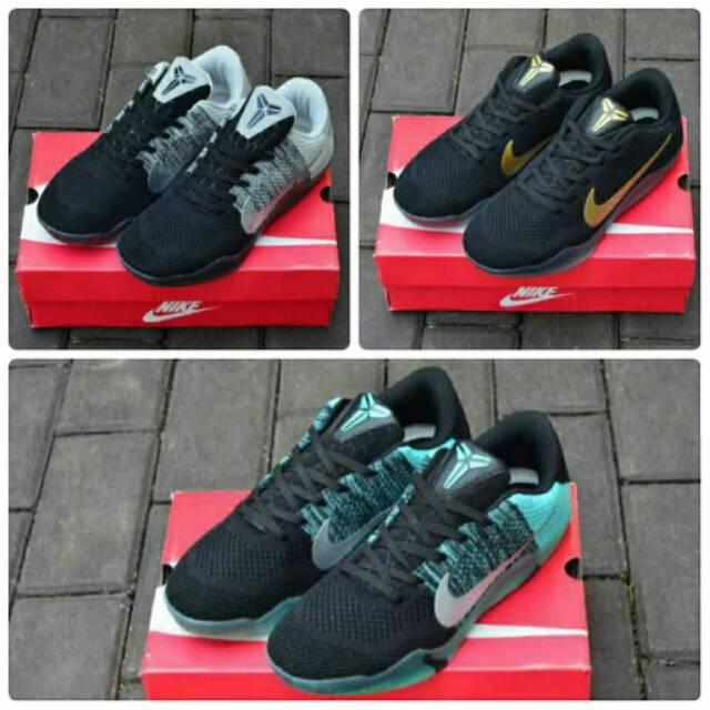 Sepatu Sneakers Nike Kobe 11 Casual Santai Sport Basket Slop Keren Pantofel Pria Murah Boots Formal