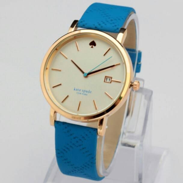 Jam Tangan Kate Spade Kulit Biru JF010
