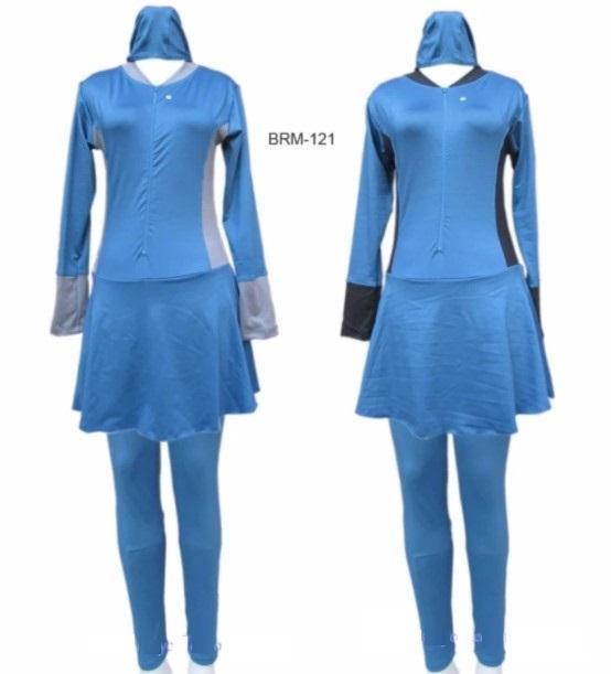 Baju Renang Muslimah Dewasa Murah Warna Polos List