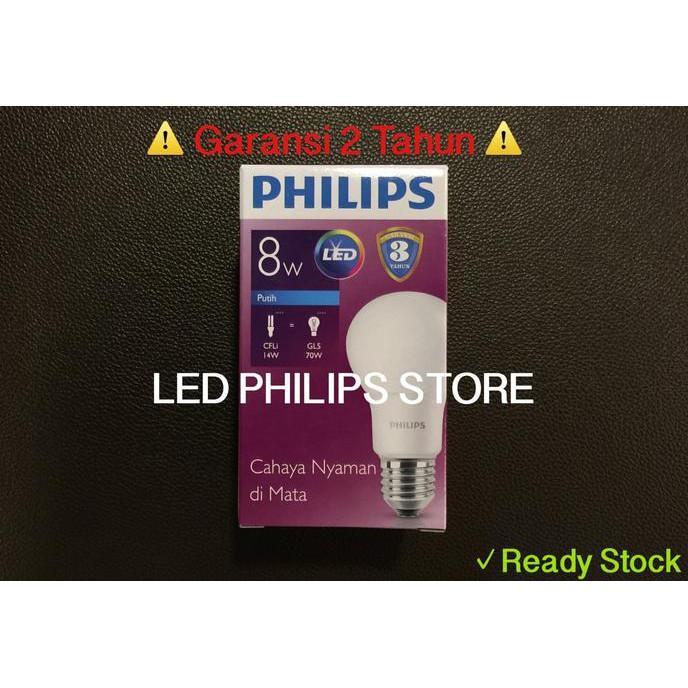 GRATIS ! Lampu Bohlam LED Philips 9 Watt Putih/Cool Day Light (9W 9 W 9Watt)