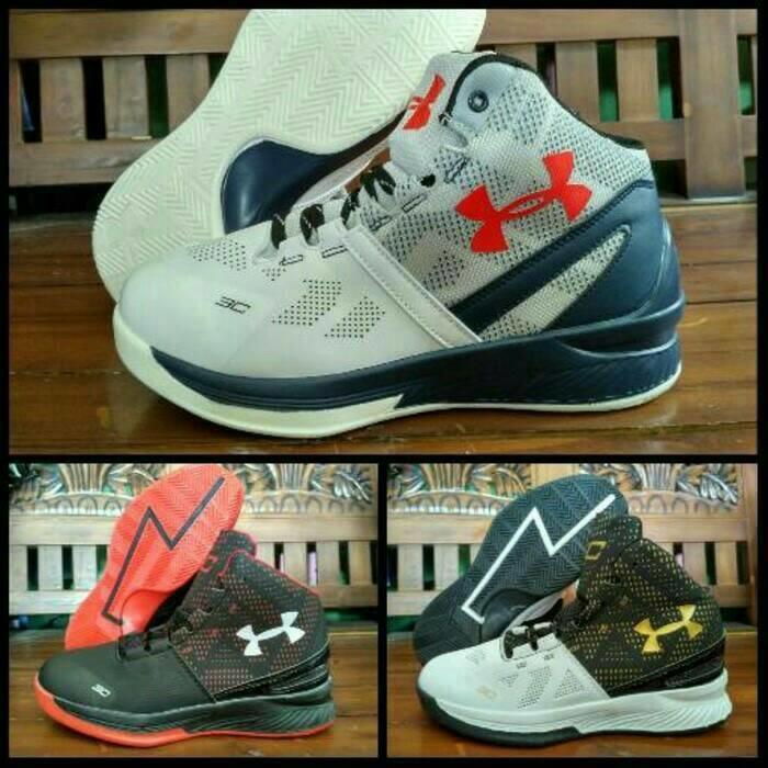 sepatu basket under armour high premium murah nike aor jordan adidas