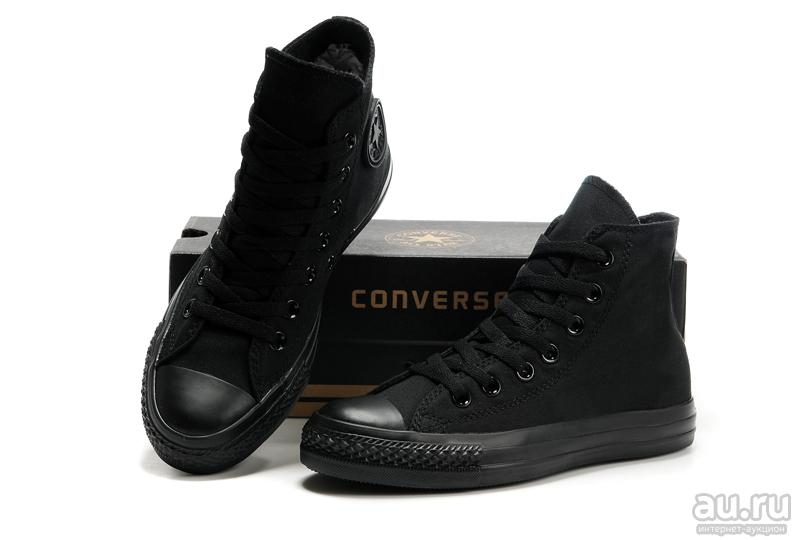 sepatu sneakers converse all star ct hi low cut premium unisex-full black