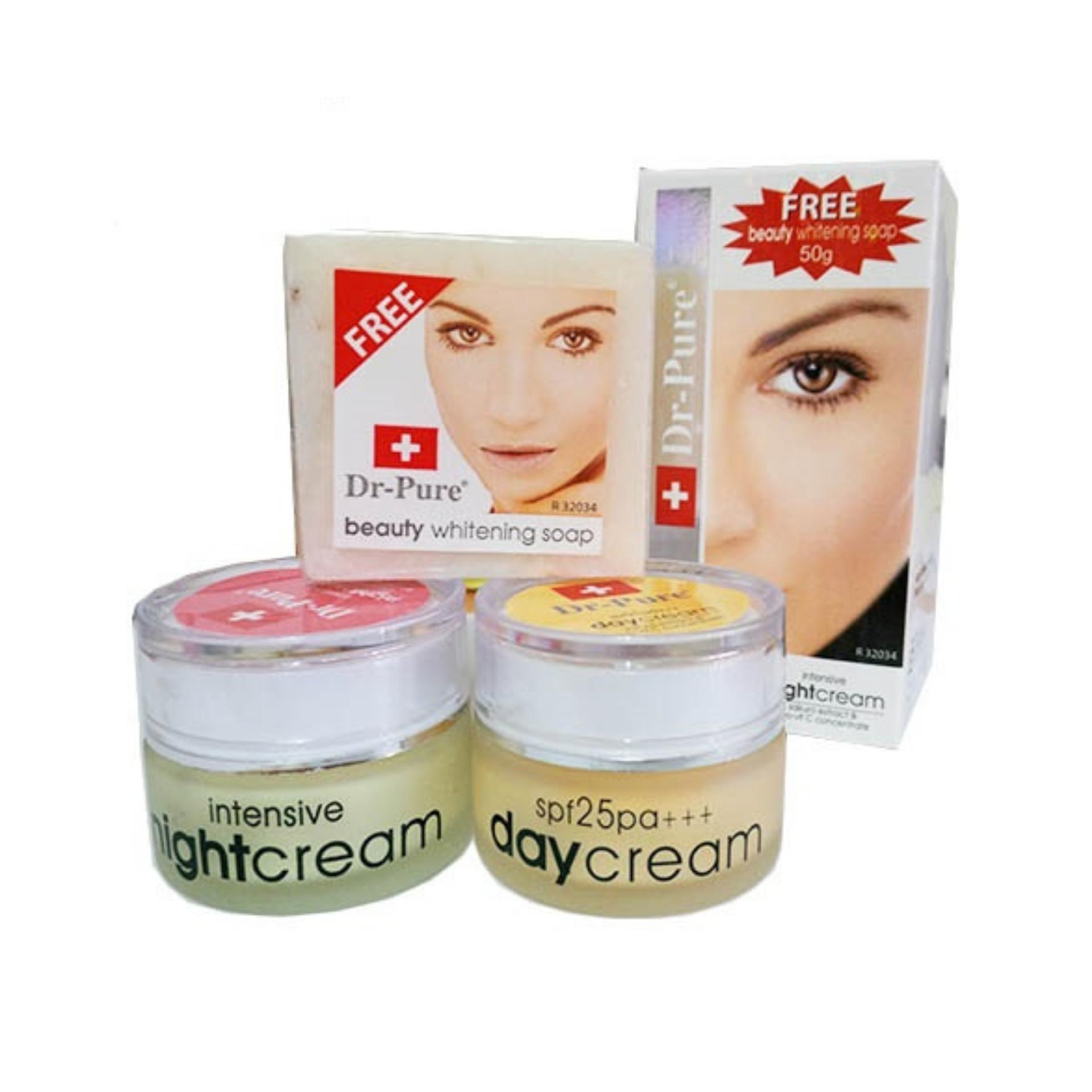 BEST SELLER DR PURE PAKET (Cream Siang + Malam + Soap)