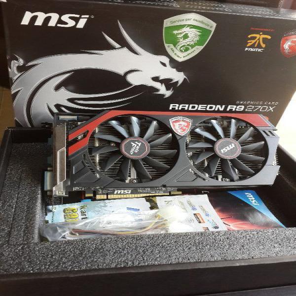 VGA AMD MSI R9 270X 2GB 256Bit GDDR5 Lengkap Mulus