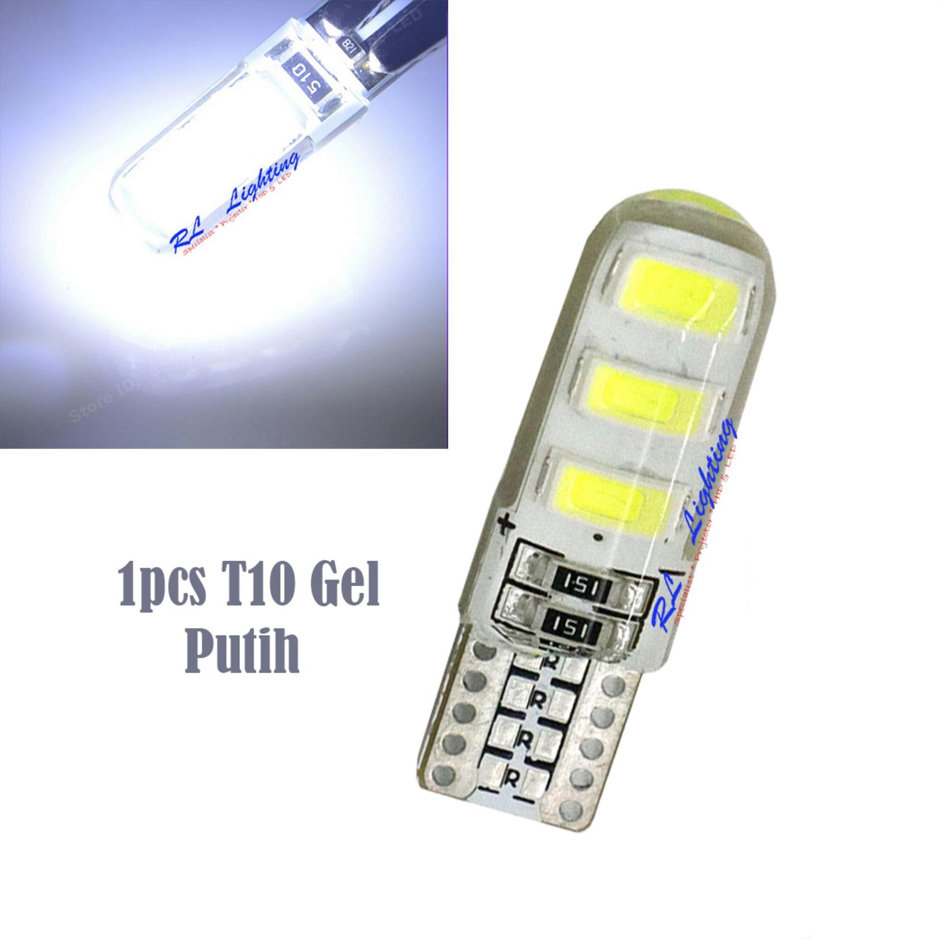 1bh Led T10 Senja 6Led Gel / Jelly / Silicone Super Bright - Putih - 2 ...