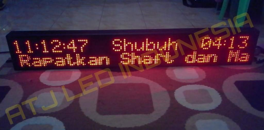 Jadwal Sholat Digital / Running text / lampu led